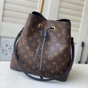 LV black messenger bucket NEONOE handbag